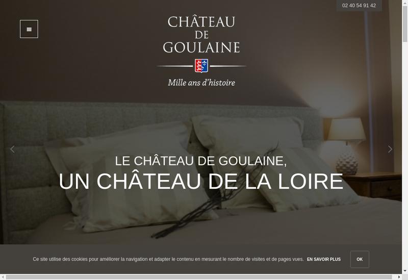 Capture d'écran du site de Chateau de Goulaine