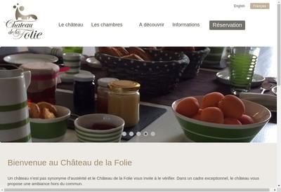 Site internet de Chateau de la Folie