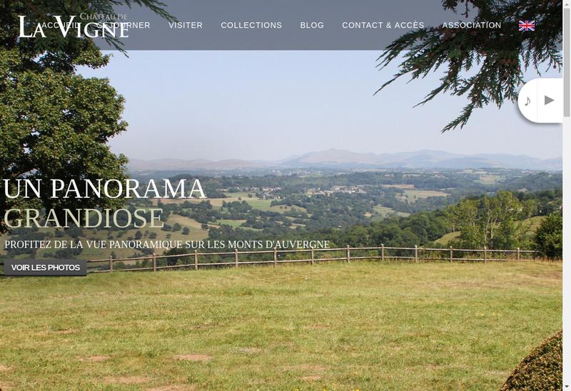 Capture d'écran du site de Le Chateau de la Vigne . Club et Resta
