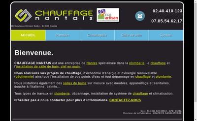 Site internet de SARL Chauffage Nantais