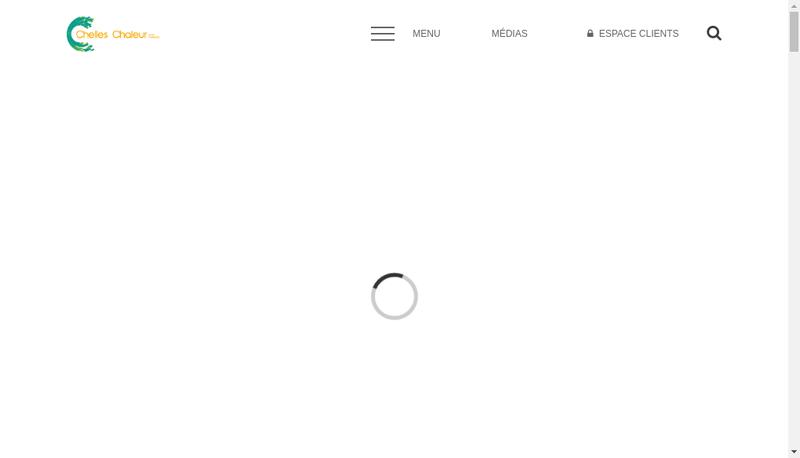 Capture d'écran du site de Chelles Chaleur