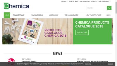 Capture d'écran du site de Chemica