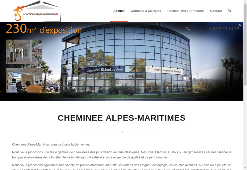 Capture d'écran du site de Cheminees Richard le Droff