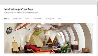 Capture d'écran du site de SARL le Moulinage Chez Soie