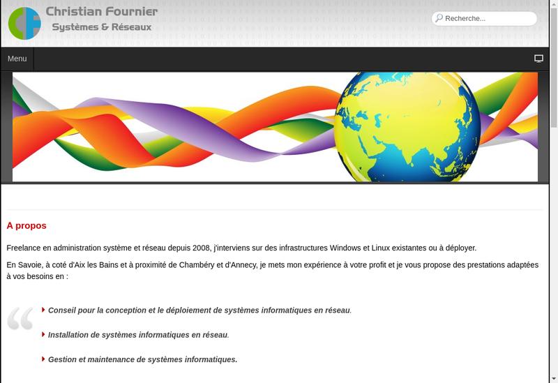 Capture d'écran du site de Christian Fournier