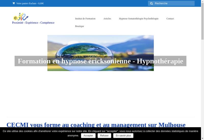 Capture d'écran du site de Ctre Eur Coaching Mentoring Integratif