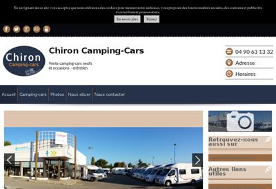 Capture d'écran du site de Chiron Camping Cars