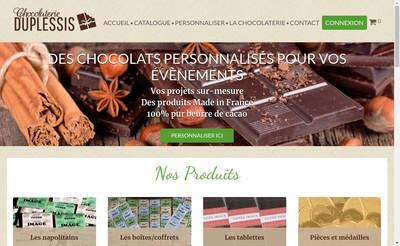 Site internet de Chocolaterie du Plessis