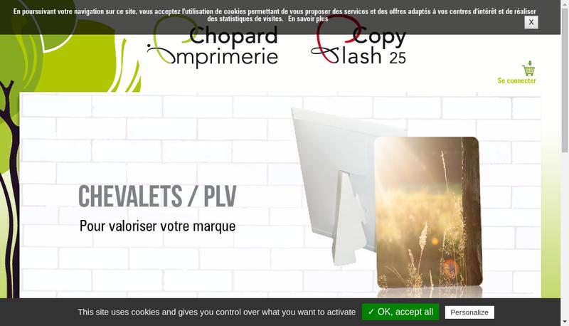Capture d'écran du site de Imprimerie Chopard
