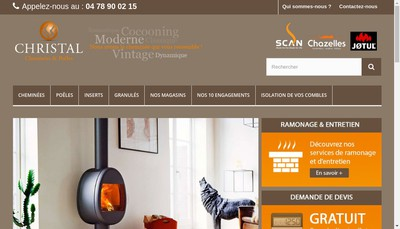 Site internet de Christal Cheminees