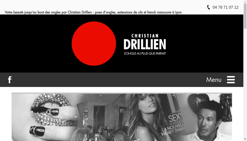 Capture d'écran du site de Christian Drillien Ongles