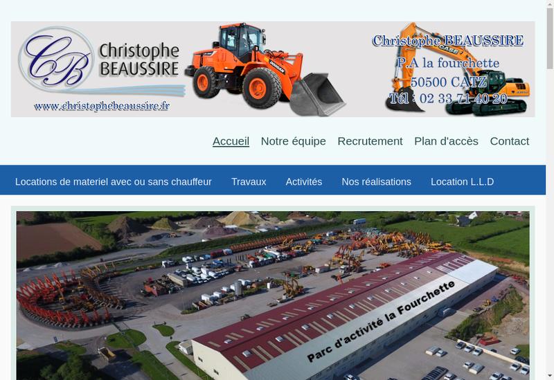 Capture d'écran du site de Christophe Beaussire