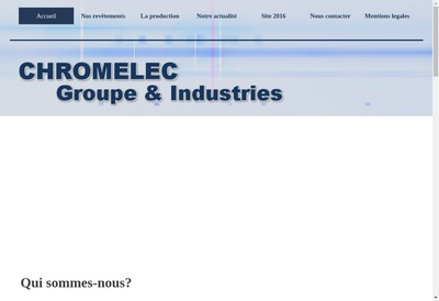 Site internet de Chromelec Groupe & Industries
