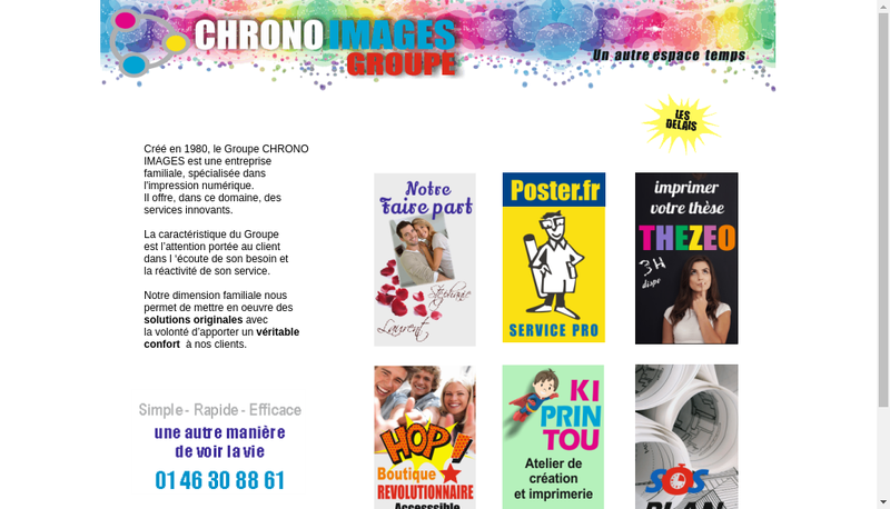 Capture d'écran du site de Poster