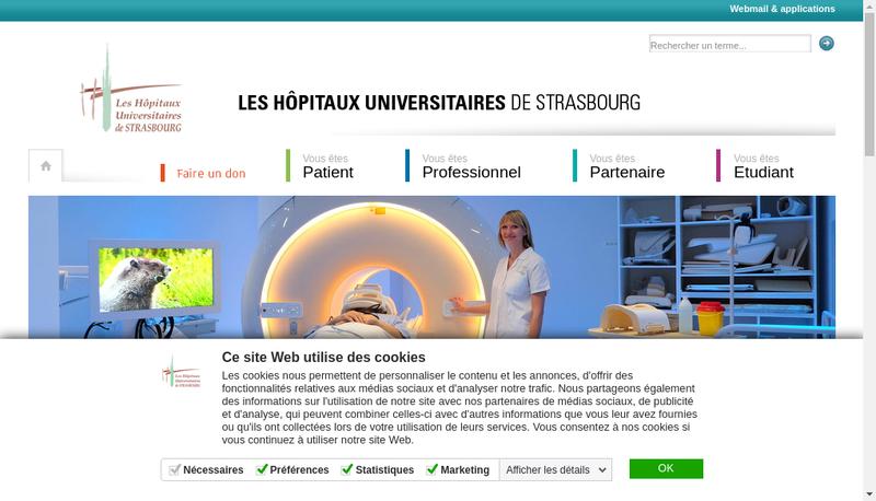Capture d'écran du site de Elisabeth Quoix