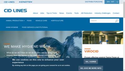 Capture d'écran du site de Cid Lines France