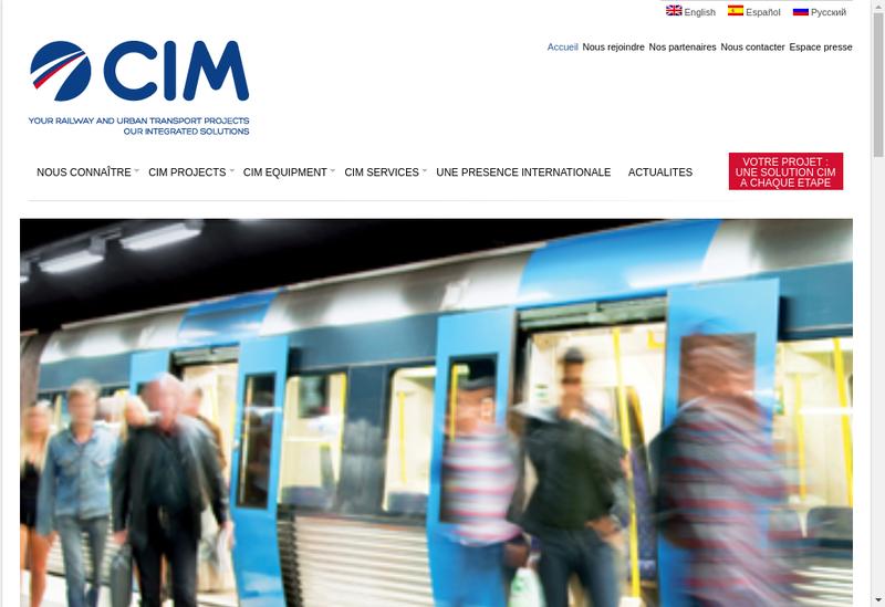 Capture d'écran du site de Compagnie Internationale de Maintenanc