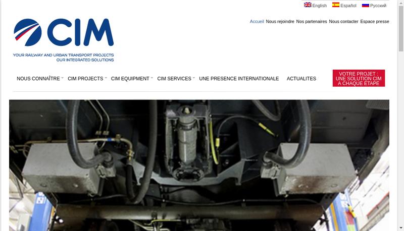 Capture d'écran du site de Compagnie Internationale de Maintenance