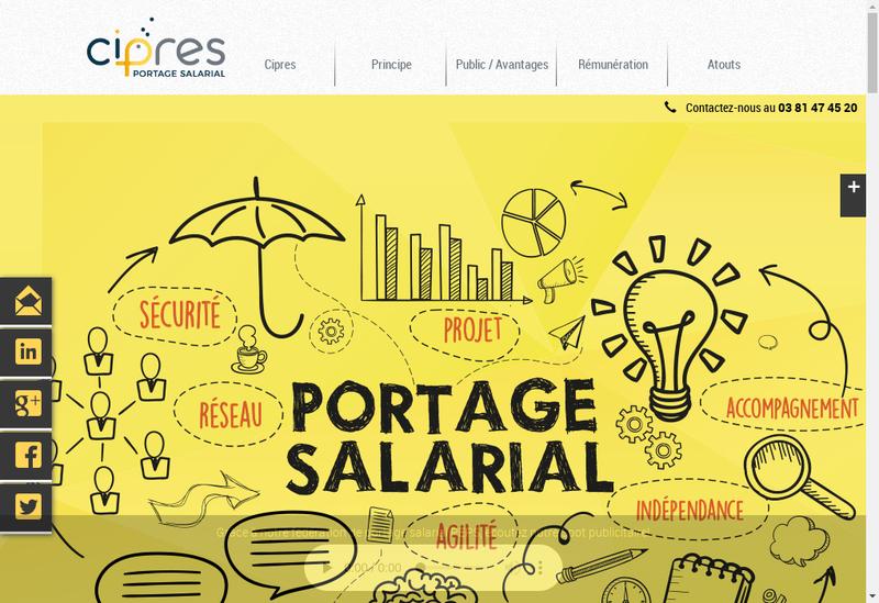 Capture d'écran du site de CIPRES