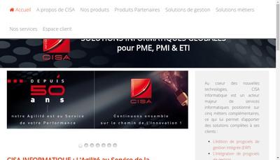 Site internet de Cisa Informatique