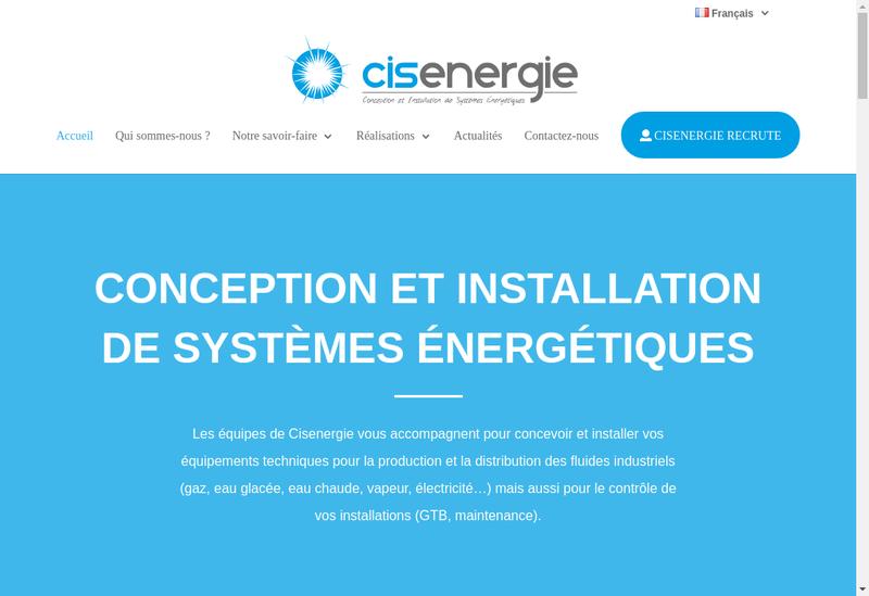 Capture d'écran du site de Cisenergie Centre