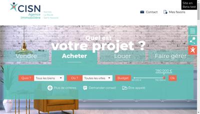 Capture d'écran du site de Cie Immobiliere Saint Nazaire Atlantiq