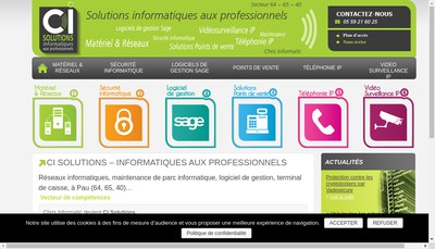 Site internet de Ci Solutions