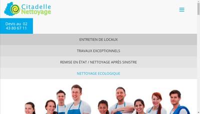 Site internet de Citadelle Nettoyage