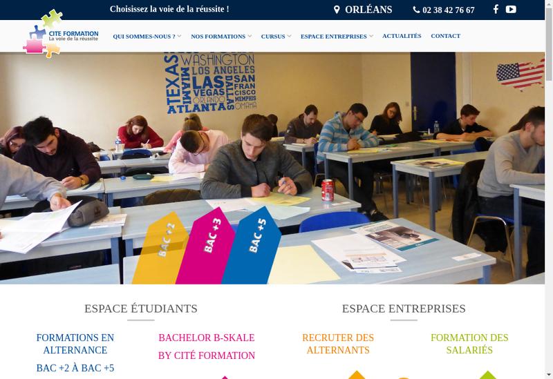 Capture d'écran du site de SARL Cite Formation