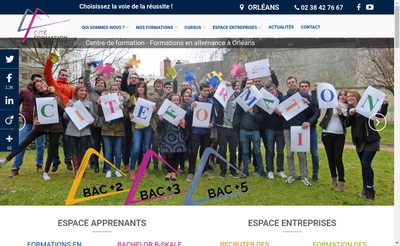 Site internet de SARL Cite Formation