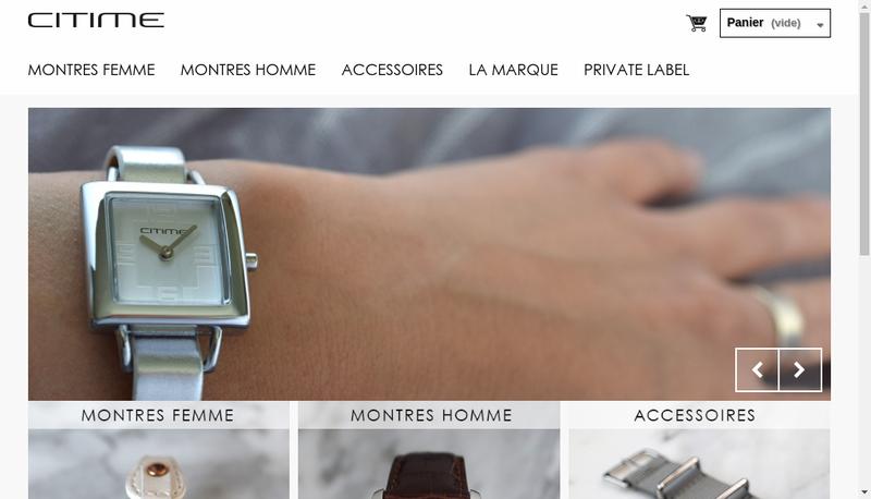 Capture d'écran du site de Citime