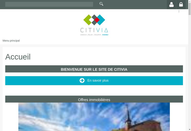 Capture d'écran du site de SERM