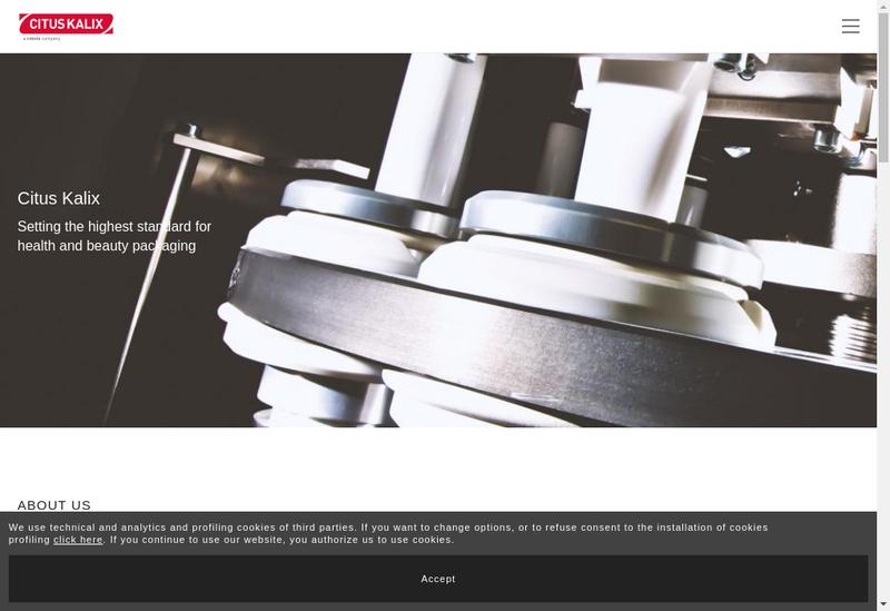 Capture d'écran du site de Citus Kalix