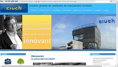 Site internet de Ciuch Industrie