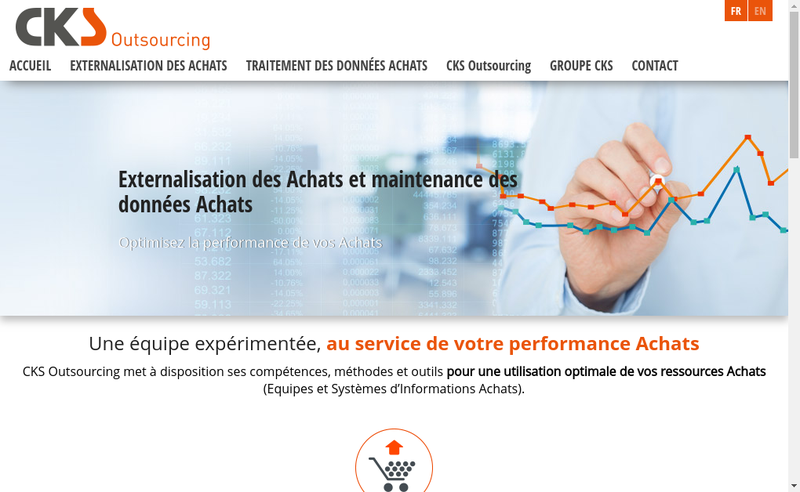 Capture d'écran du site de Cks Outsourcing
