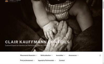 Site internet de Clair Kauffmann Conseils