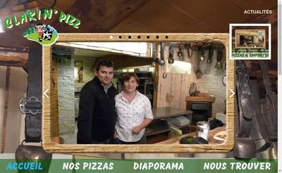 Site internet de Clarin'Pizz