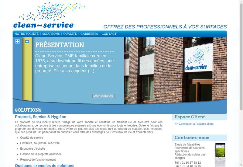 Capture d'écran du site de Clean Service Wash Moquette
