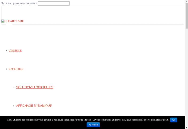 Capture d'écran du site de Cleartrade