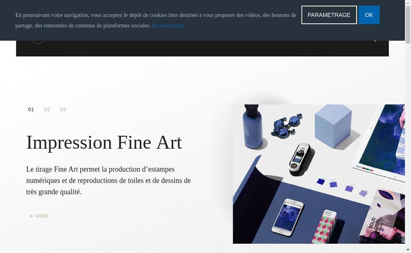 Capture d'écran du site de Imprimerie Clertant