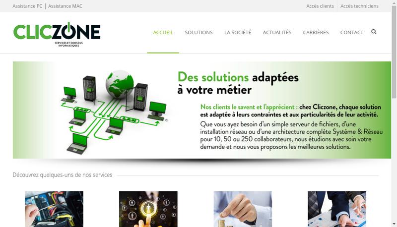Capture d'écran du site de Jem Consulting