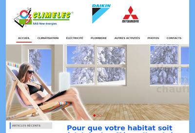 Capture d'écran du site de Climelec
