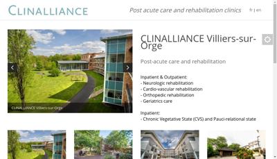 Capture d'écran du site de Clinalliance Fontenay