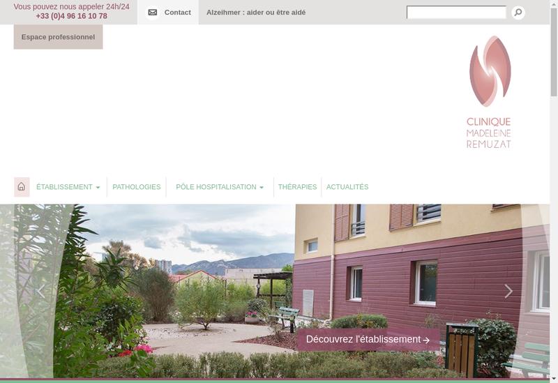 Capture d'écran du site de Clinique Madeleine Remuzat