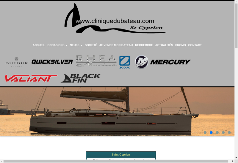Capture d'écran du site de Clinique du Bateau