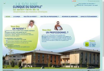 Site internet de Clinique du Souffle la Solane