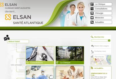 Capture d'écran du site de Clinique St Augustin