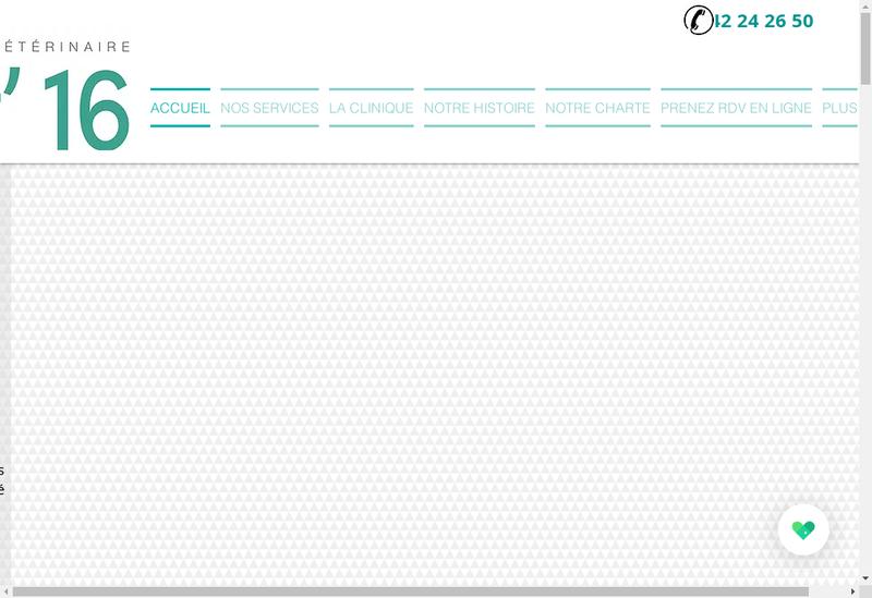 Capture d'écran du site de Clinique Vétérinaire Vet'16