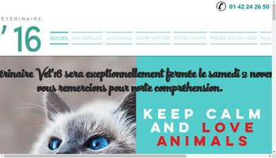Site internet de Clinique Vétérinaire Vet'16