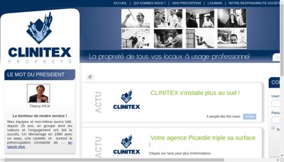 Capture d'écran du site de Clinitex Normandie